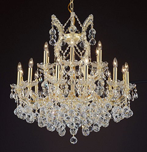 "Maria Theresa Empress Crystal(Tm) Chandelier Lighting H 28"" W 30"" - Cjd-B6/Cg/2181/30"