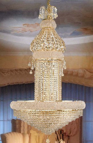 "Swarovski Crystal Trimmed Chandelier French Empire Crystal Chandelier Lighting H50"" X W30"" - F93-625/20 Sw"