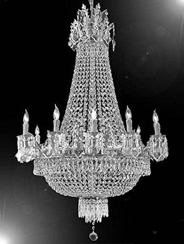 "French Empire Crystal Chandelier Chandeliers Lighting W25"" H32"" 12 Lights - F93-Cs/1284/8+4"