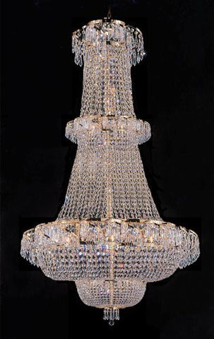 "French Empire Crystal Chandelier Lighting H 50"" W30"" - Perfect For An Entryway Or Foyer - A93-928/21"