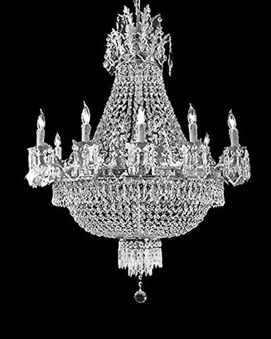 French Empire Crystal Chandelier Chandeliers Lighting W25 X H26 12 Lights - A93-C3/CS/1280/8+4