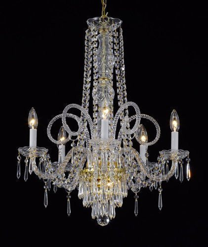 "New Crystal Chandelier Murano Venetian Style Chandeliers Lighting 25""X24"" - G46-Cg/20048/5"