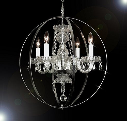 "Spherical Orb Crystal Chandelier Lighting H 23"" W 23"" - Go-J10-B66/26098/4"