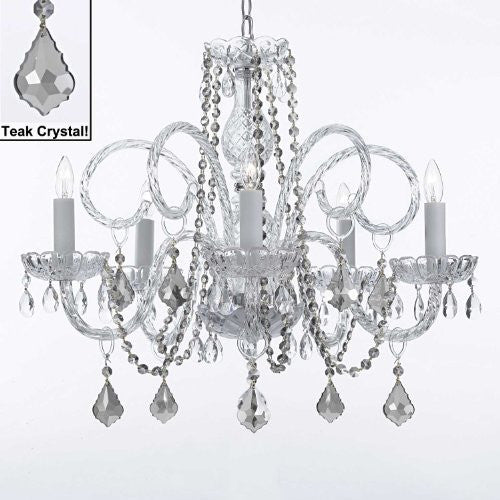 Murano Venetian Style All-Crystal Chandelier With Teak Color Crystal - A46-Teakb2/385/5