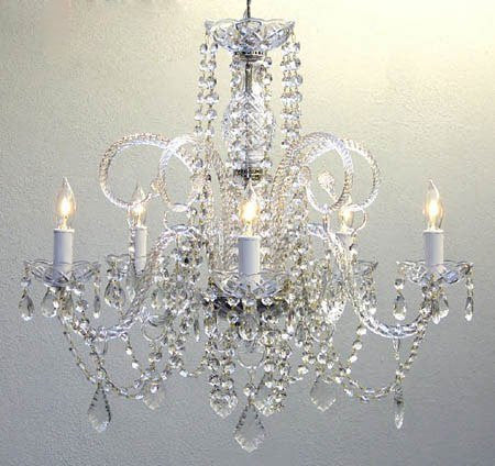 "Set Of 10 Large Crystal Chandeliers Lighting - Each One Is 24"" X 25"" - Set Of 10 - A46-385/5-Set Of 10"