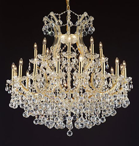 "Maria Theresa Empress Crystal(Tm) Chandelier Lighting H 36"" W 36"" - Cjd-B6/Cg/2181/36"