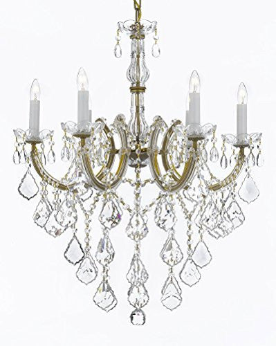 "Maria Theresa Chandelier Crystal Lighting Chandeliers H 30"" W 22"" Trimmed With Spectra(Tm) Crystal Reliable Crystal Quality By Swarovski - F83-B12/7002/6Sw"