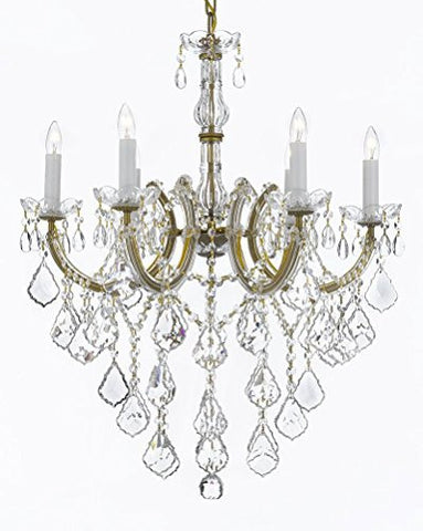 "Maria Theresa Chandelier Crystal Lighting Chandeliers H 30"" W 22"" Trimmed With Spectra(Tm) Crystal Reliable Crystal Quality By Swarovski - J10-B12/26066/6Sw"
