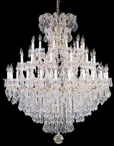 "Large Foyer / Entryway Maria Theresa Empress Crystal (Tm) Chandelier Lighting! H 60"" W 52"" - A83-Gold/2756/36+1"