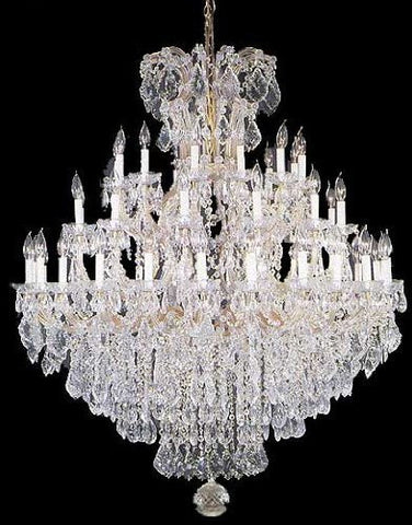 "Large Foyer / Entryway Maria Theresa Empress Crystal (Tm) Chandelier Lighting H 60"" W 52"" - A83-Gold/2756/36+1"