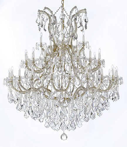 "Large Foyer / Entryway Maria Theresa Empress Crystal (Tm) Chandelier Lighting H 60"" W 52"" - Gb104-B12/2756/36+1"