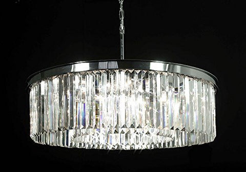 Palladium Empress Crystal (Tm) Glass Fringe 1-Tier Chandelier Chandeliers Lighting Chrome Finish - G7-Cs/2164/11