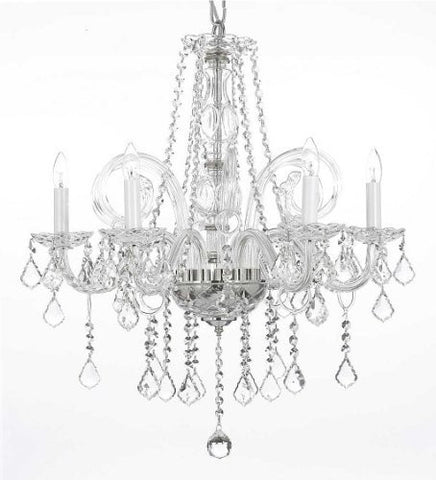 "Crystal Chandelier Lighting H25"" X W24"" - G46-B26/385/5"