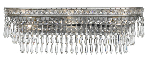 6 Light Olde Silver Crystal Bathroom-Vanity Light - C193-5265-OS-CL-MWP