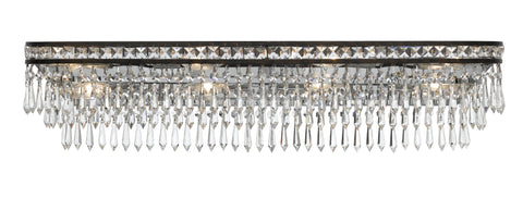 8 Light English Bronze Crystal Bathroom-Vanity Light - C193-5267-EB-CL-MWP