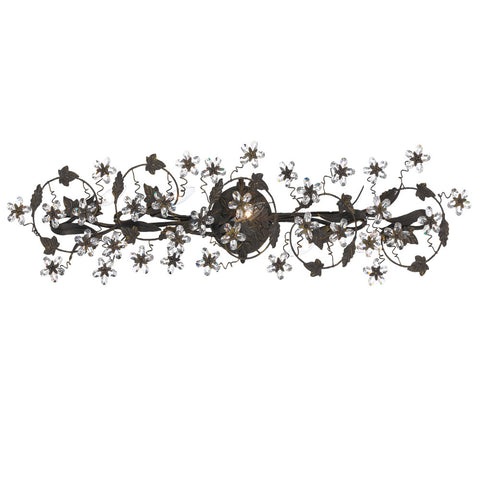 5 Light Dark Rust Youth Bathroom-Vanity Light Draped In Clear Hand Cut Crystal - C193-5307-DR