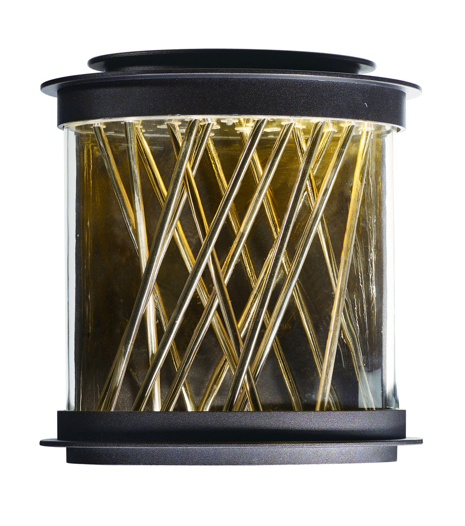 Bedazzle LED Outdoor Wall Lantern Galaxy Bronze / French Gold - C157-53495CLGBZFG