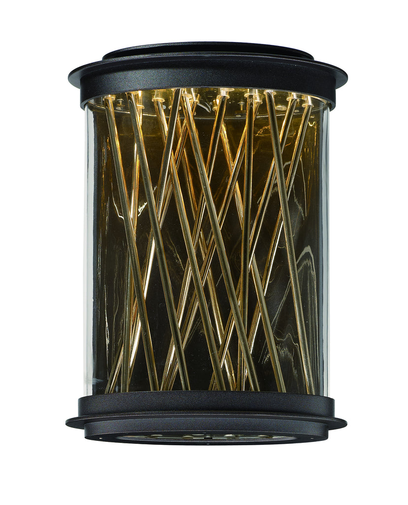 Bedazzle LED Outdoor Wall Lantern Galaxy Bronze / French Gold - C157-53497CLGBZFG