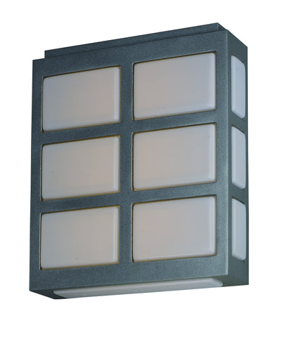 Packs LED Outdoor Wall Sconce Metallic Silver - C157-53592WTMS