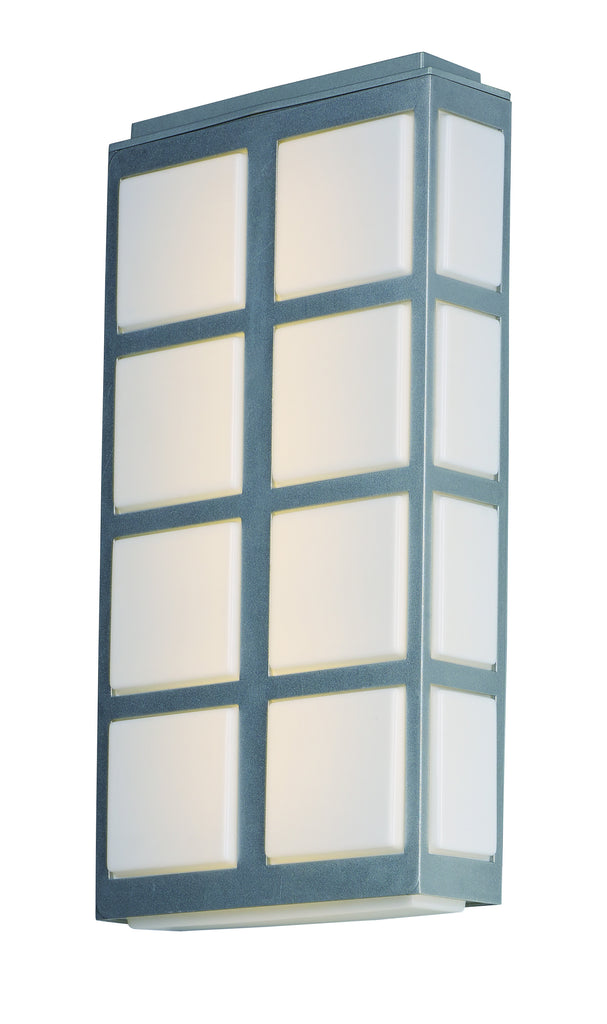 Packs LED Outdoor Wall Sconce Metallic Silver - C157-53594WTMS