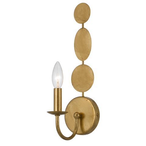 1 Light Antique Gold Eclectic  Industrial  Glam Sconce - C193-541-GA
