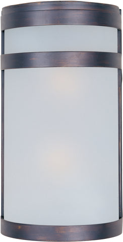 Arc LED 2-Light Outdoor Wall Lantern Oil Rubbed Bronze - C157-56006FTOI