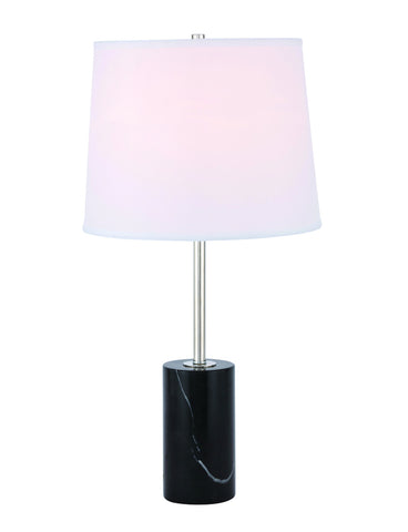 ZC121-TL3038PN - Regency Decor: Laurent 1 light Polished Nickel Table Lamp