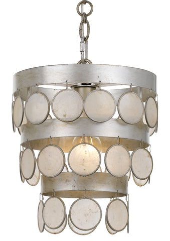 1 Light Antique Silver Coastal Mini Chandelier - C193-6003-SA