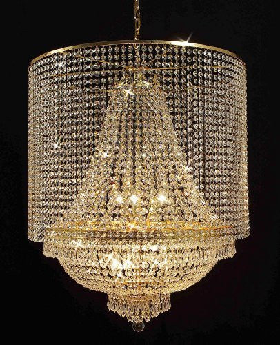 Empire Crystal Chandelier Empress Crystal (Tm) Lighting With Crystal Shade - F93-Gold/C1/870/9
