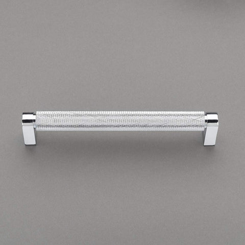 "Belle Knurled Collection 6"" Pull Handle Hardware Polished Chrome Finish Pulls Great for Kitchen or Bathroom Cabinets, Drawers, Dressers, and More! - P100-12/4553"