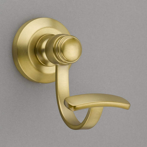 Louvre Collection Burnished Brass Towel Hook/Robe Hook - Good for Kitchen, Bathroom, Bedroom, Or Closet Hardware - P100-11/4549
