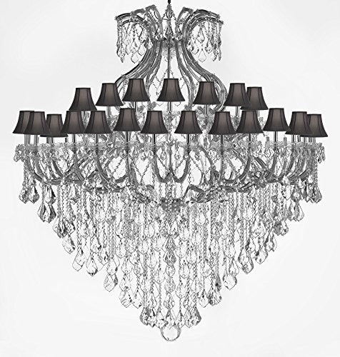 "Maria Theresa Empress Crystal (Tm) Chandelier Lighting H 72"" W 72"" With Black Shades - Cjd-Sc-Cs/B12/2181/72"
