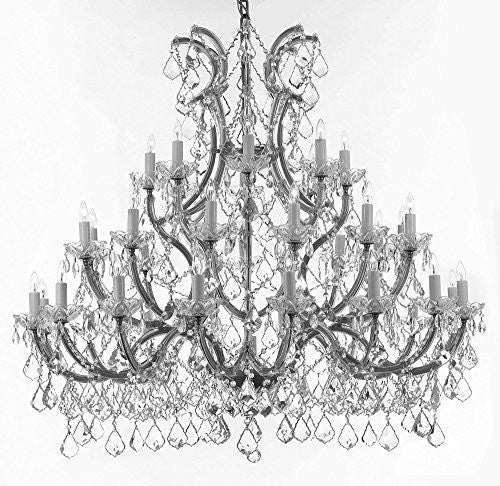 Chandelier Crystal Chandeliers Lighting Trimmed With Spectratm Crystal - Reliable Crystal Quality By Swarovski 52X46 - Gb104-Silver75636+1Sw