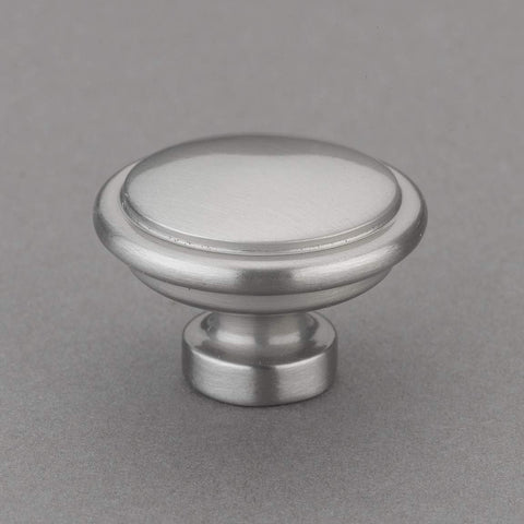 "Louvre Collection 1"" Knob Pulls Handle Hardware Satin Nickel Finish Great for Kitchen or Bathroom Cabinets, Drawers, Dressers, and More!"
