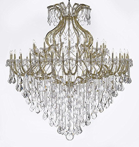"Maria Theresa Crystal Chandelier H 72"" W 72"" Trimmed With Spectratm Crystal - Reliable Crystal Quality By Swarovski - Cjd-Cg/B12/2181/72Sw"