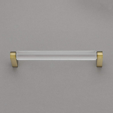 "Belle Crystal Collection 6"" Pull Handle Hardware Burnished Brass Finish Pulls Great for Kitchen or Bathroom Cabinets, Drawers, Dressers, and More! - 	P100-11/4554"