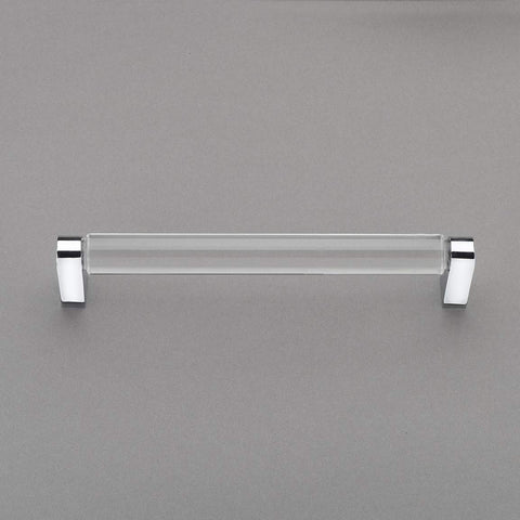 "Belle Crystal Collection 6"" Pull Handle Hardware Polished Chrome Finish Pulls Great for Kitchen or Bathroom Cabinets, Drawers, Dressers, and More! - P100-12/4554"