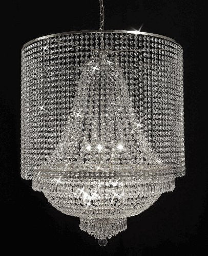 Empire Crystal Chandelier Lighting With Crystal Shade - F93-Silver/C1/870/9