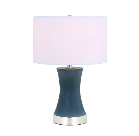 ZC121-TL3036PN - Regency Decor: Knox 1 light Polised Nickel Table Lamp
