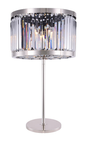 ZC121-1233TL18PN/RC - Urban Classic: Chelsea 4 light Polished nickel Table Lamp Clear Royal Cut Crystal