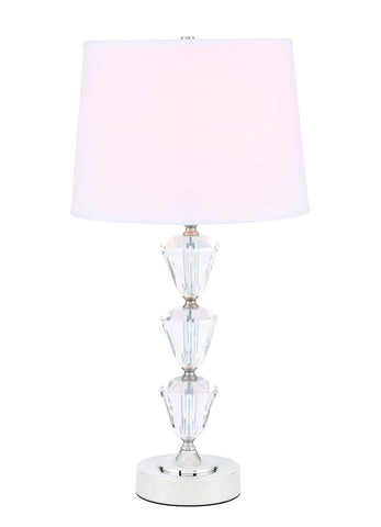 ZC121-TL3029PN - Regency Decor: Mae 1 light Polished Nickel Table Lamp