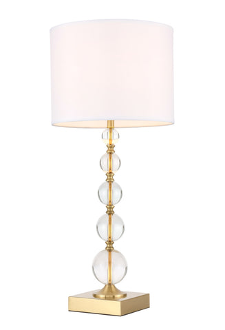 ZC121-TL3027BR - Regency Decor: Erte 1 light Brass Table Lamp