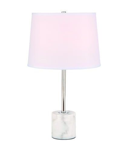 ZC121-TL3039PN - Regency Decor: Kira 1 light Polished Nickel Table Lamp