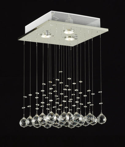 JAC D'LIGHTS J10-C9071S-3us Modern Rain Drop Lighting Crystal Ball Fixture Pendant Chandelier 18 by 12-Inch Modern - J10-C9071S-3