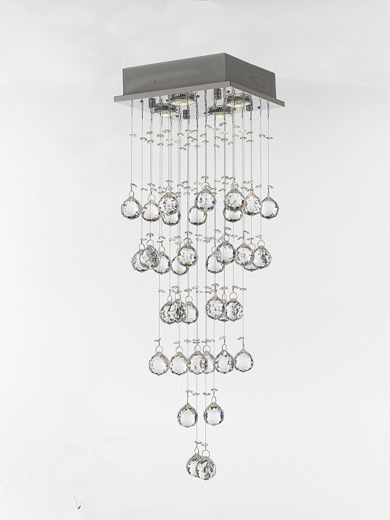 Jac D Lights Modern Chandelier Rain Drop Lighting Crystal Ball Fixture Pendant
