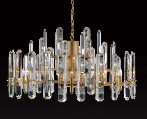 "Bonningham 3-Tier Chandelier Crystal Lighting - 36"" Wide - Great for The Living Room, Dining Room, Foyer and Entryway, Family Room - G7-4460/18"