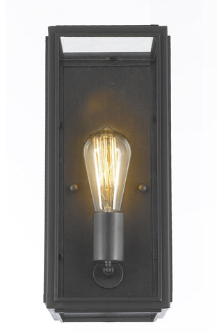 "Union Filament Clear Glass Wall Sconce - Good For Outdoor Lighting & Indoor Use - Wrought Iron Vintage Barn Metal Industrial Urban Loft Rustic Wall Mount Lighting - Size: 5""W X 6""D X 14""H - G7-3164/1"