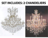"Set of 2-1 Large Foyer/Entryway Maria Theresa Empress Crystal (Tm) Chandeliers Lighting! H 60"" W 52"" and 1 Chandelier Crystal Lighting H30"" X W28"" - B12/2756/36+1 + 21532/12+1"