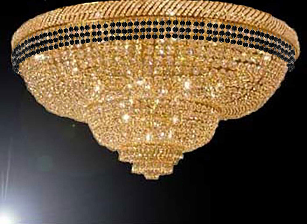 competitive price d41fc b930d Flush French Empire Crystal Chandelier Chandeliers Moroccan Style Lighting  Trimmed with Jet Black Crystal! Good for Dining Room, Foyer, Entryway, ...