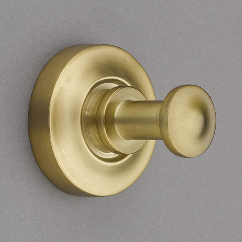 "Nouveaux Collection Burnished Brass 2"" Towel Hook/Robe Hook - Good for Kitchen, Bathroom, Bedroom, Or Closet Hardware - P100-11/4555"